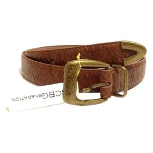BCBGENERATION BELT BROWN WESTERN COWGIRL MEDIUM